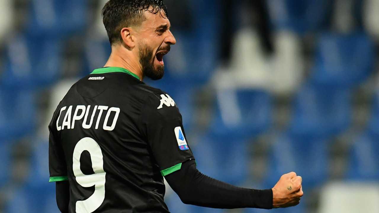 Ciccio Caputo, autore di 21 goal in campionato quest'anno