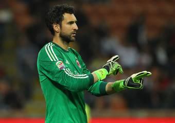 Diego Lopez, portiere del Milan vicinissimo al Chelsea