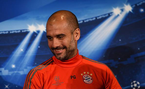 Pep Guardiola, allenatore del Bayern Monaco Champions League Bundesliga
