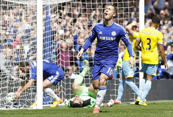Premier League. Un tapin di Hazard regala il titolo al Chelsea, battuto il Crystal Palace (FOTOGALLERY)