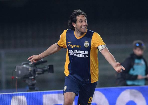 Luca Toni, attaccante del Verona