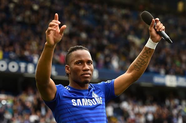 Didier Drogba, qui con la maglia del Chelsea