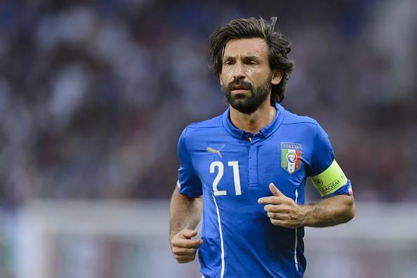 Andrea Pirlo qui con la maglia dell'Italia