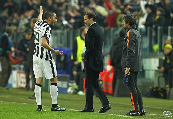 Calciomercato Juventus, lite Bonucci-Allegri potrebbe costare l'addio