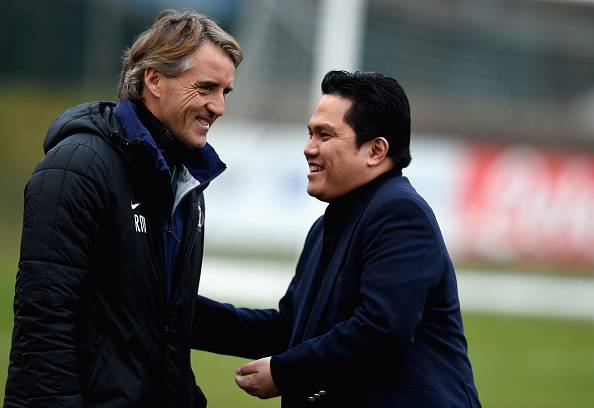 Erik Thohir e Roberto Mancini, presidente e allenatore dell'Inter