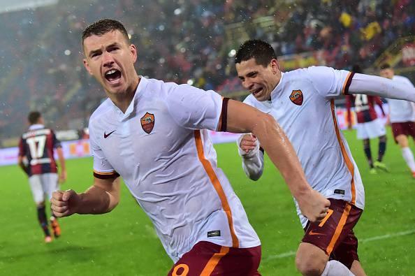 """Roma, Dzeko: """"Meglio giocare vicino a un altro attaccante"""""""