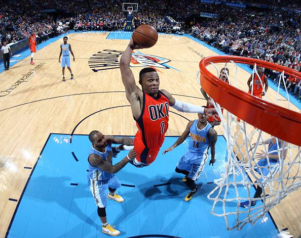 Russell Westbrook, giocatore degli Oklahoma City Thunder NBA