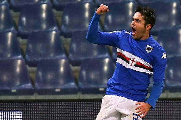 Eder, attaccante dell'Inter, qui con la maglia della Sampdoria