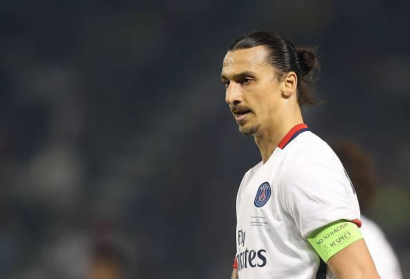 Zlatan Ibrahimovic, attaccante del PSG, piace al Napoli