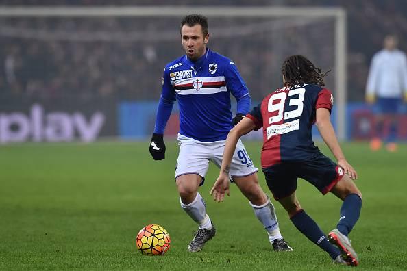 Antonio Cassano, attaccante della Sampdoria