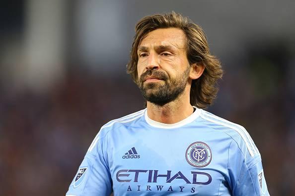 Andrea Pirlo, centrocampista del New York FC e stella della MLS