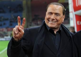 Silvio Berlusconi, presidente del Milan