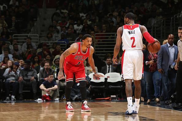 John Wall sfida Derrick Rose NBA