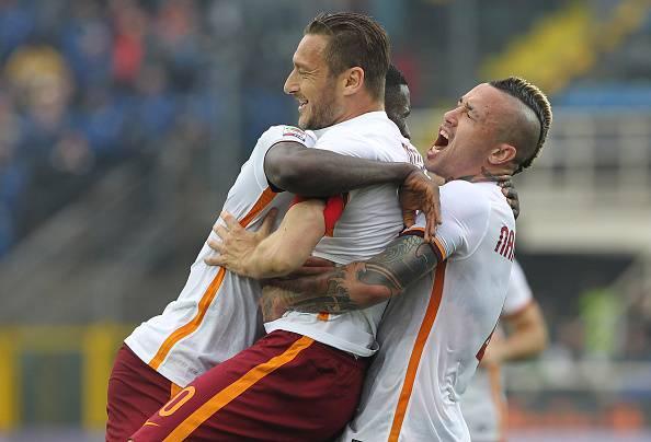 Francesco Totti esultato dopo un gol Serie A