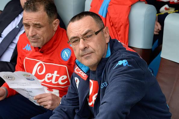 Maurizio Sarri , allenatore del Napoli