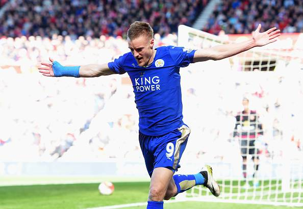 Jamie Vardy, attaccante del Leicester City