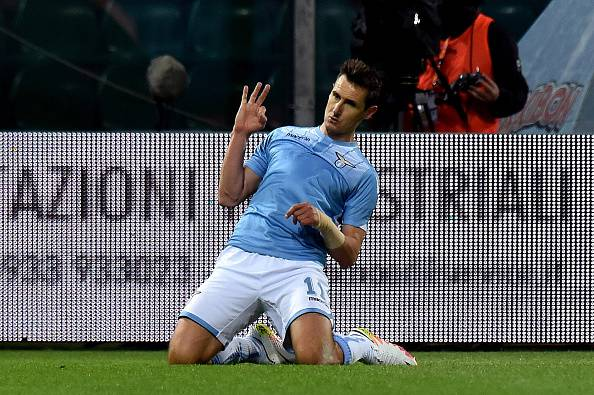 Serie A, Lazio-Inter 2:0: Klose e Candreva fermano Mancini