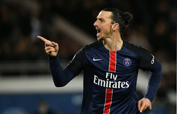 Zlatan Ibrahimovic, nuovo attaccante del Manchester United, qui con la maglia del PSG
