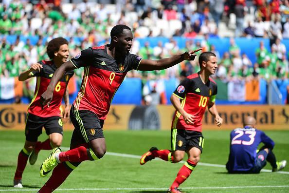 Romelu Lukaku, attaccante del Belgio, oggi autore di una doppietta a Euro 2016