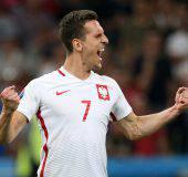 Arkadiusz Milik, attaccante della Polonia, piace alla Juventus e al Napoli