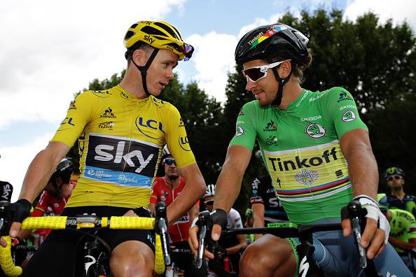 Chris Froome e Peter Sagan (getty images) SN.eu
