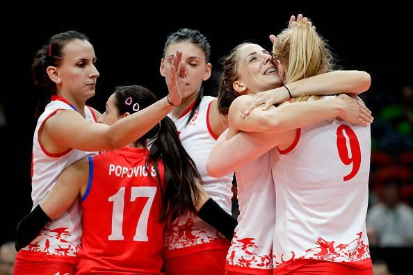 La Serbia festeggia la finale nel volley a Rio 2016
