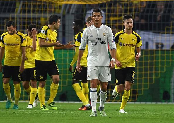 Cristiano Ronaldo, stella del Real Madrid. Questa sera a segno in Champions League
