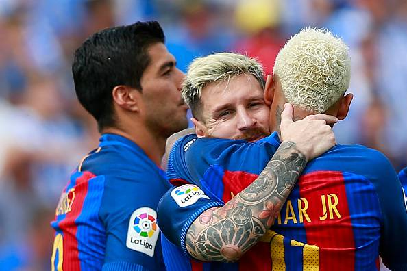 Suarez Messi e Neymar