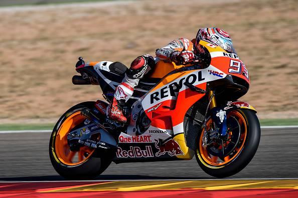 Moto GP, Aragon: Marquez davanti a tutti. Terzo Rossi