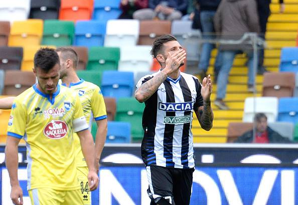 Cyril Thereau, attaccante dell'Udinese Serie A