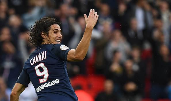 Edinson Cavani, attaccante del PSG e tra i giocatori più prolifici della Ligue 1