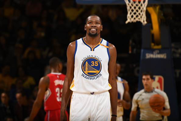 Kevin Durant, stella NBA. Gioca nei Golden State Warriors