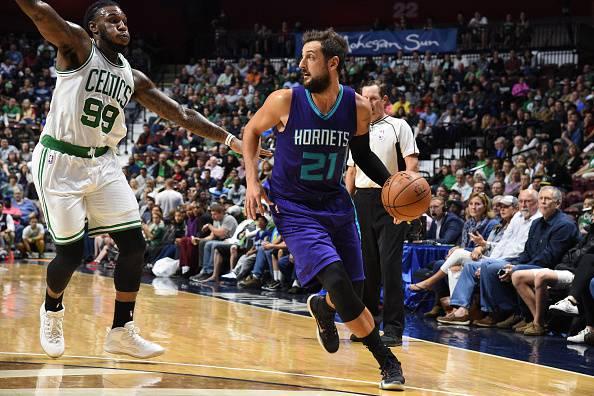 Marco Belinelli, giocatore NBA. Quest'anno agli Charlotte Hornets