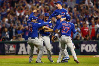 I Chicago Cubs festeggiano il titolo MLB 2016