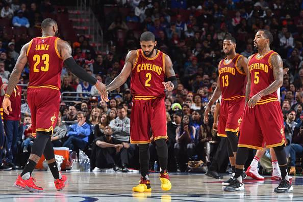 I Cleveland Cavaliers, campioni NBA in carica.