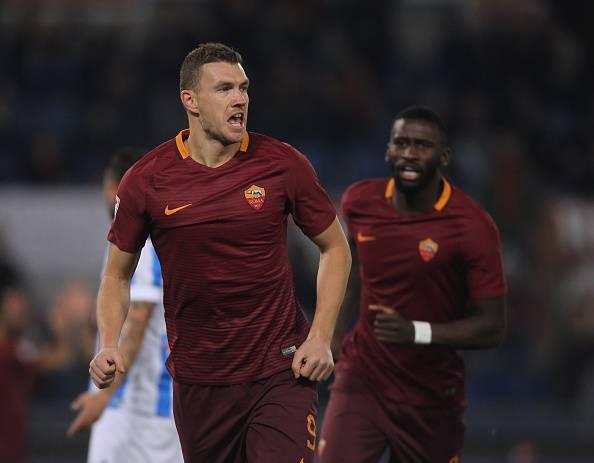 Edin Dzeko, attaccante della Roma. E' tra i bomber più prolifici di Serie A