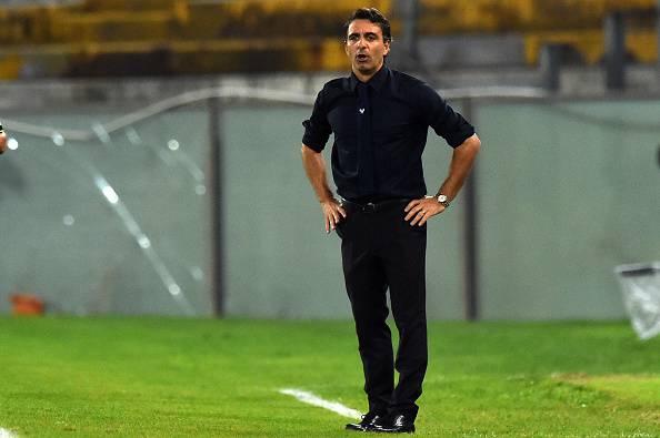Fabio Pecchia, allenatore del Verona. Capolista in Serie B