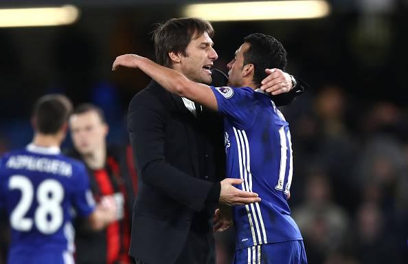 Antonio Conte e Pedro, grandissimi protagonisti in Premier League