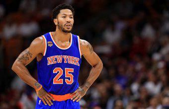 Derrick Rose, è stato MVP della NBA, oggi gioca ai New York Knicks