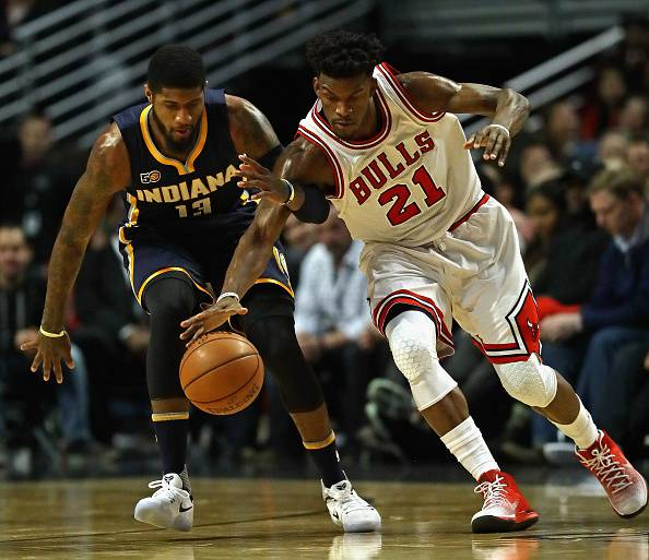 Paul George e Jimmy Butler