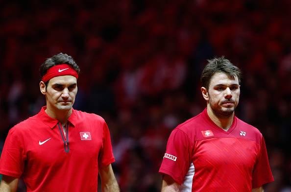 Roger Federer e Stanislas Wawrinka coppa davis