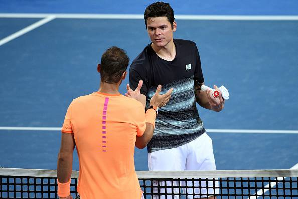 Raonic Nadal ATP Brisbane