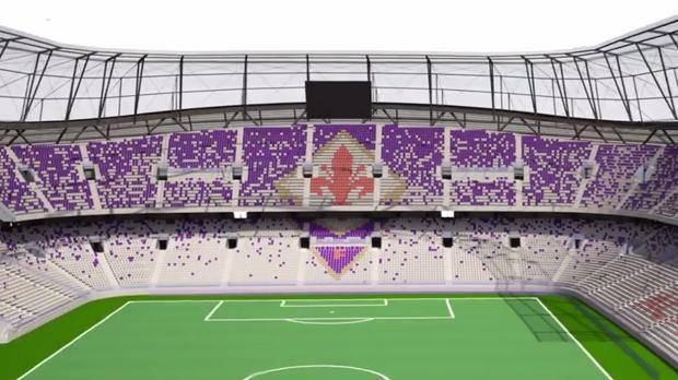 Fiorentina, il nuovo stadio sarà a forma di fiore