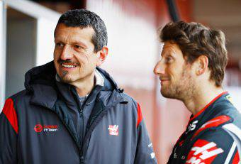 Guenther Steiner e Romain Grosjean