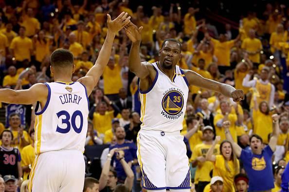 Curry e Durant gara 2 nba finals