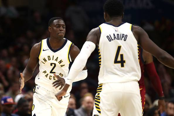 Darren Collison e Victor Oladipo indiana pacers