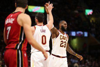Kevin Love e LeBron James