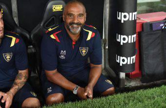 L'allenatore del Lecce Fabio Liverani