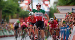 Elia Viviani vincitore della 4 tappa del Giro di Svizzera