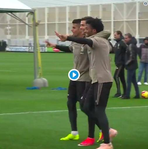 Cancelo, Cristiano Ronaldo e Cuadrado show in allenamento
